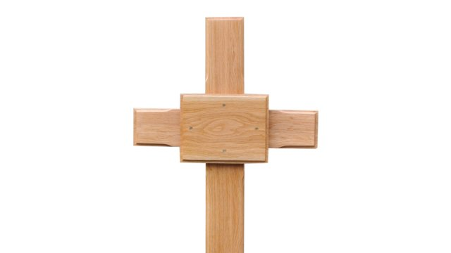 Oak Cross with Plaque